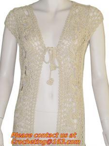 China Women Many Colors Crochet Knit Blouse Long-sleeve Tops Women Sweater Cardigan on sale