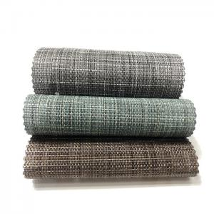 China Earth Friendly PVC Mesh Fabric Vinyl Coated Recycled To Garden / Pool Fence Material on sale