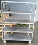 Full 304 Stainless Steel Trolley With Square Tube Thickness 1.0mm Slideable Available