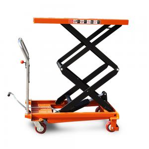 China 770lbs 1500mm 350kg Mobile Portable Hydraulic Scissor Lift Table Cart on sale