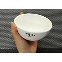 Porcelain Dinnerware Sets Ceramic Round Soup Bowl With Logo Dia.10cm Weight 181g
