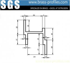 China Australia Customized Brass Door Window Frame Extrusion Priofiles on sale