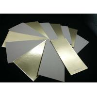 China Environment Grade A Laminated Paperboard Gold Paper Grey Back For Cake Bakery on sale