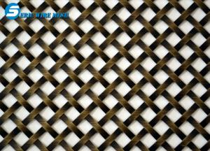 China Flat-Wire Decorative Mesh Colorado Stainless Steel 36 X 48 on sale