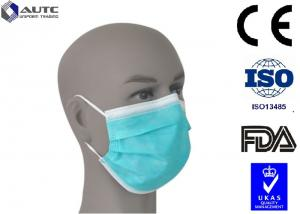 China Cool Disposable Medical Mask PP Non Woven Fabric Material Fliud Resistant on sale