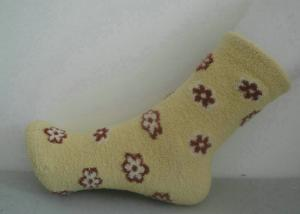 China Softness Customized Ladies Cashmere Socks With 90% Bilateral cashmere for Winter on sale