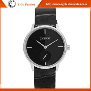 China 061A Mens Watch Fashion Timepieces CHENXI Branding Quartz Analog Watches Leather Watch Men on sale