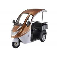 Smart Digital LED Display Electric Tricycle Passenger , 1200W Brushless Motor Enclosed Bicycle Car