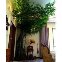 China Customized High Simulation Large Outdoor Artificial Trees Decoration Ficus Banyan Tree For Park on sale