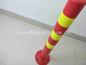 China Orange Flexible Posts Molded Rubber Products 75cm Traffic Delineator Post on sale