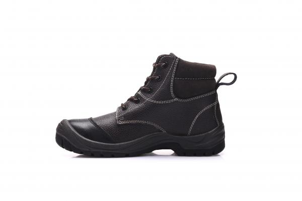 8a16af9f Desert High Ankle Black Safety Shoes Mens Cow Leather With Steel Toe /l  Plate Images