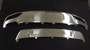 China Stainless Steel Rear / Front Bumper Protector Guard Skid Plate For Audi Q5 2018 on sale