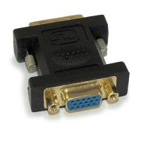 DVI-A/DVI-I Analog Single Link Male to VGA Female Adapter, Gold Plated