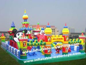 China Animal World 0.55mm PVC Tarpaulin Kids Inflatable Fun City Amusement Park Disney Land on sale