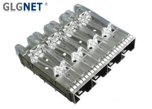 China Female Gender SFP Cage Connector 1x4 10G Ethernet Application Without Heat Sink on sale