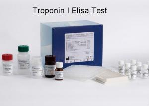 China Troponin I Elisa Test Kit  High Accuracy 96wells / kit Quantitative Measurement on sale