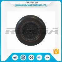 China Line Pattern 14 Inche Polyurethane Caster Wheels Plastic Rim Bush Bearing on sale