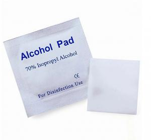 China 70% Isopropyl Alcohol Wipes Individually Wrapped , Alcohol Cleansing Pads on sale