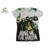 Various Color Combed Cotton T Shirts , Customized Tee Shirts Screen Printing