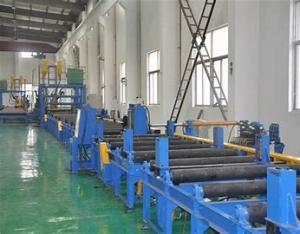 China Light Steel Automatic H Beam Production Line, H Beam Combination Welding Machine on sale