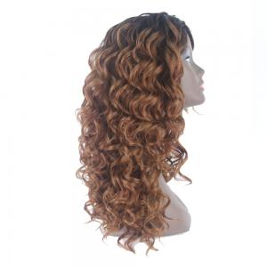 China Synthetic Material Curly Hair Extensions Human Hair Lace Front Wig Technique on sale