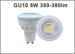 China High quality 5W CRI80 AC85-265V LED Spotlight GU10 350-380lm GU10 LED bulb dimmable available on sale