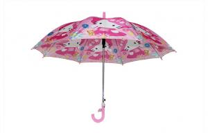 China 19 Inch Kids Rain Umbrellas , Hello Kitty Cartoon Pictures Printing on sale