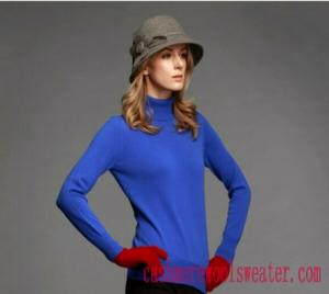 China High Neck Lady Cashmere Sweater on sale