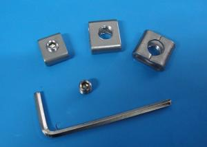 China Custom Size Metal Banding Material , SS 304 Stainless Steel Screw Buckles on sale