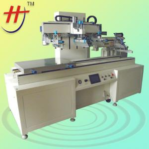China CE Approved Large Format Run-table Car Glass Semi-Automatic Screen Printer with Unloading Mechanical Arm on sale