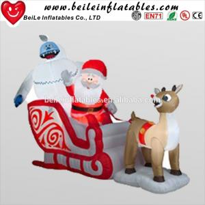 China Hot sale inflatable deer car and Christmas man decorations for family on sale