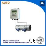 Wall mounted low cost high performance ultrasonic flow meter