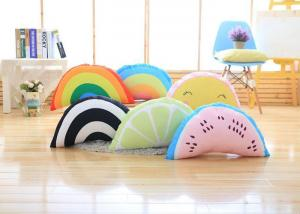 China Colorful Cute Plush Pillows / Rainbow Shaped Pillow With 100% PP Cotton Fill In on sale
