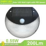 Solar LED Wall Light with PIR Motion Sensor and Daylight Sensor IP65 Waterproof