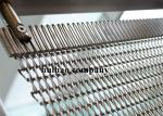 Rose Gold Transit Spiral Weave Wire Mesh For Shop Drapery Divider W1.2m X L 3m