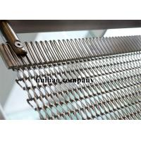 Stainless Steel Mining Screen Mesh Conveyor Belt With Flat Round Spiral Wires
