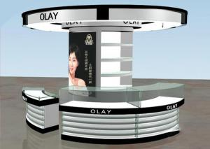 China Brand Cosmetic Store Furniture / Cosmetics Shop Fittings Kiosk Any Color Available on sale