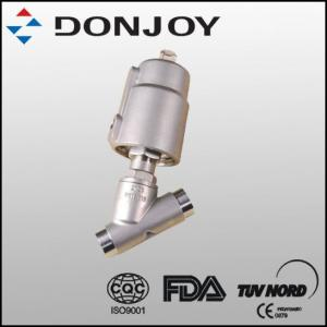 China Stainless Steel Pneumatic Angle Seat Valve on sale