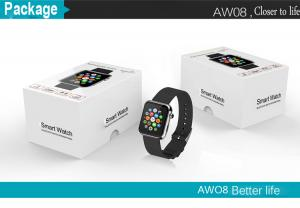 China bluetooth smart watch AW08 with pedometer anti-lost sleep monitoring on sale
