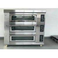 China Stainless Steel Baking Oven 3 Deck 9 Trays Electric / Gas Deck Oven on sale