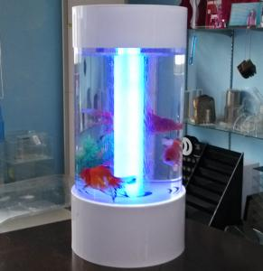 China Fishion polishing acrylic fish tank removable with led light on sale
