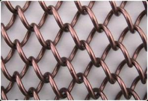 China Durable Decorative Wire Mesh , Spiral Architectural Mesh Screen For Building Facades on sale