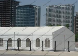 China Nice Looking Clear PVC Tent Waterproof Aluminum Frame With Church Windows on sale