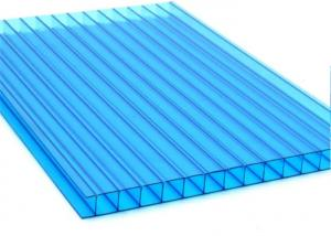 China Flat Twin Wall Polycarbonate Sheet Blocking Board For Bike Storage Shed on sale