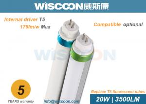 China High Efficiency 20 W T5 LED Lights Tube Ra80 For Reception Room / Supermarket on sale
