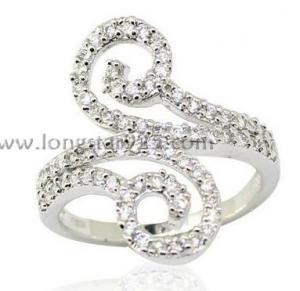 China cz rings jewelry, 925 silver rings on sale