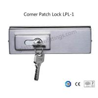 China Single Throw Frameless Glass Door Hardware , Corner Patch Lock With Strike Plate on sale