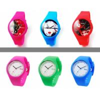 Silicone watch, silicone material, fashion design, japanese movement, 3atm water resistant