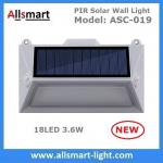 Solar Wall Lights 18 LED Solar Fence Lights Solar Garden Lights Decorative Double PIR Motion Sensor Solar Fence Lamp