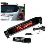 Le panneau d'affichage programmable de défilement de signe de message de la voiture 12V LED 7*50 rouge pointille